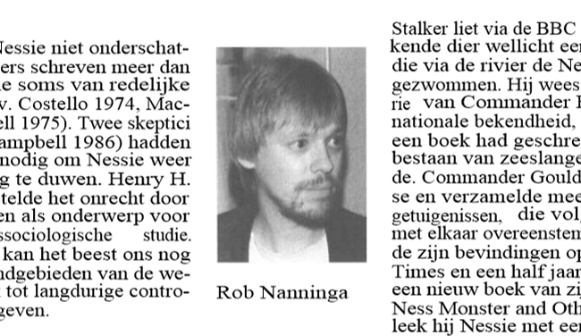 Rob Nanninga, Skepter, Volume 2, #1, March 1989