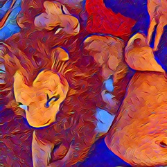 Rob/Bor Semi-Nude Lion Art
