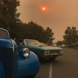 October 10, 2017, Napa Fire effects in Winters, Vacaville, and Davis too (Oldtimer show every Tuesday in Winters)
