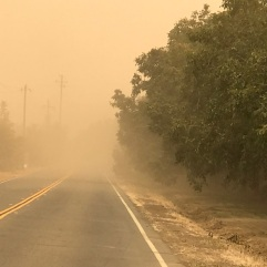 October 10, 2017, Napa Fire effects in Winters, Vacaville, and Davis too