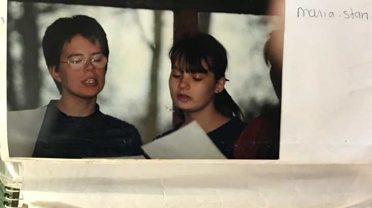 Choir-members Maria and Stan (that would be me) - April 1986