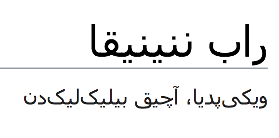 Rob's webpage in Pashto (only page besides Dutch and English)
