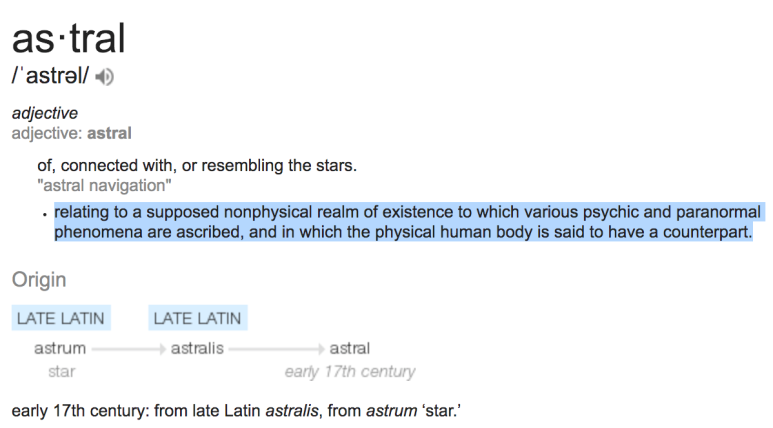 Definition of astral