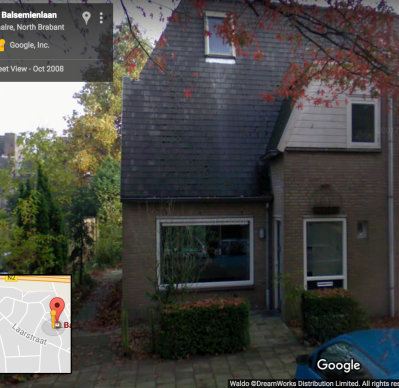 The house where I lived with my mother, Balsemienlaan, Waalre, Netherlands