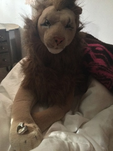 """During the second """"Alice In Wonderland"""" my double lion ring was delivered. I had found it on eBay just like the first lion ring. This was an """"older estate ring"""" and I bid on it, just like the first one and got it for exactly the same price: $50"""