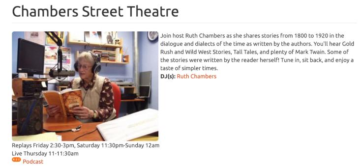 Chambers Street Theatre, Davis Radio Station - http://kdrt.org/chambers