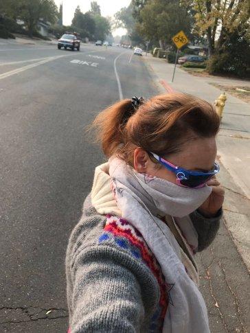 Constantia, November 10, 2018, cycling in a smoky Davis