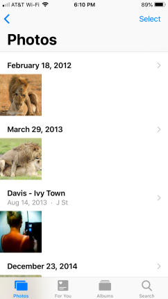 Constantia's iPhone, first seven photos