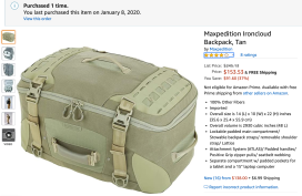 Maxpedition Ironcloud Backpack, Tan