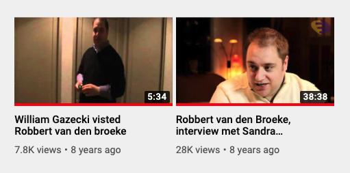 Robbert van den Broeke videos, as seen on May 19, 2020
