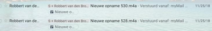 Stan emailing audios from the mailbox of Robbert van den Broeke